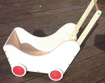 Kiddie Cart- Wooden Wagon-Walker Wagon-Doll-Pram-Doll-Carriage