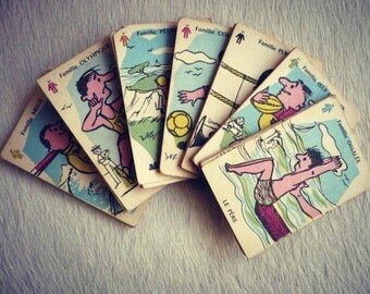 Game 7 families sport theme - vintage - 1960