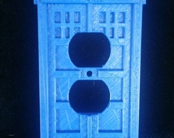 3D Printed Tardis Outlet Cover