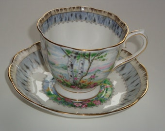 Royal Albert SILVER BIRCH Cup and Saucer