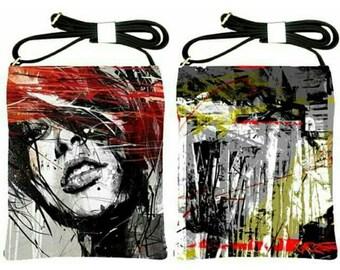 Shoulder Sling Bag, Abstract, Design, Retro, Modern, Chic, Women, Teens, Shoulder Bag, Asian, Sling Bag, Purse, Hand Bag, Unique, Pattern