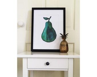 Watercolour Pear Print