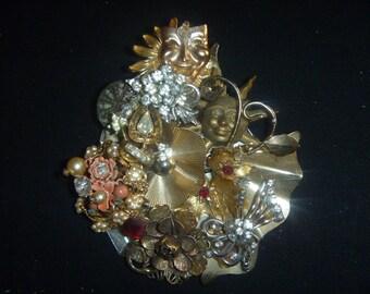 Flower brooch handmade