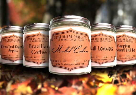 Fall Scented Candle Collection Five 8oz By