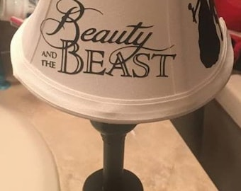Disney Belle Beauty And The Beast Lamp