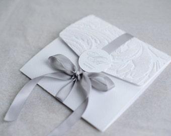 Winter - Wedding Invitation. Snow-White Wedding Invitation