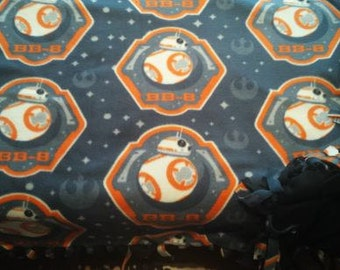 "READY TO Ship Star Wars ""The Force Awakens"" BB-8 Throw With Antipill Backing"