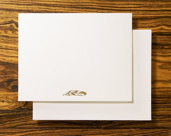 Feather Boho - Letterpress Stationery Note