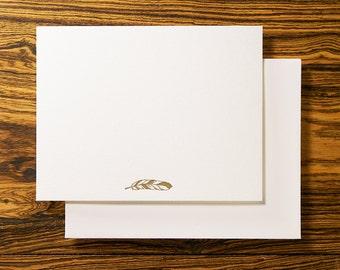 Feather Letterpress Note Stationery Set
