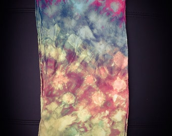 Hand-dyed scarf
