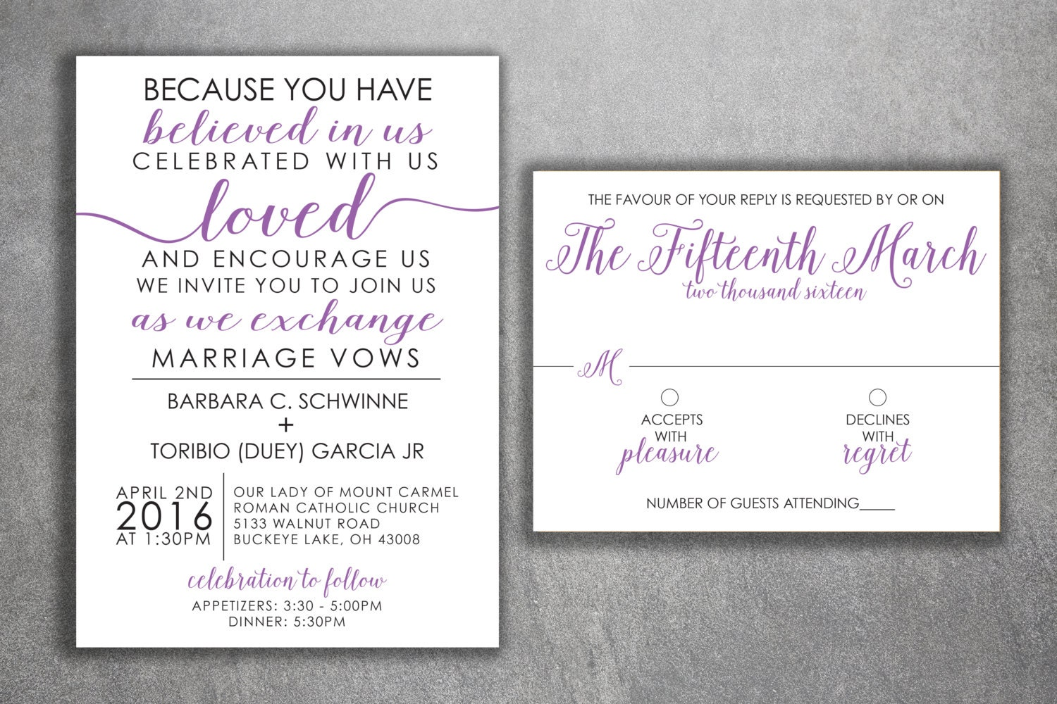 Affordable Wedding Invites