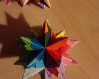 Origami Bascettas origami star - Rainbow