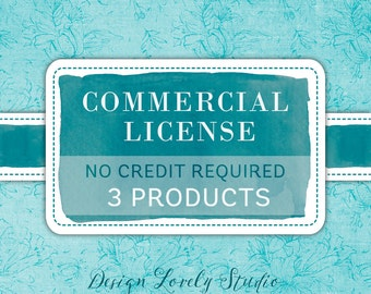 No Credit Commercial Use License / Three Products