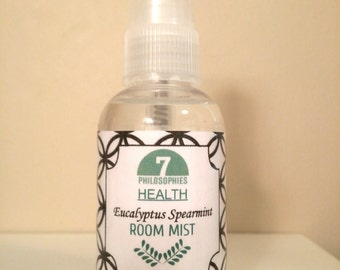 Eucalyptus Spearmint Room Mist - 2 oz - Nontoxic, Vegan, Essential Oil, Aromatherapy