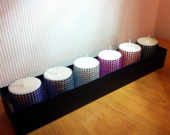 6 x Scented Diamante Candle Collection
