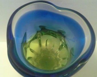 Blue,green art vase