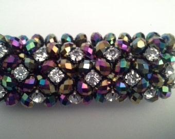 Purple blingy look stretch bracelet