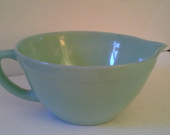 Fire King ware, vintage green mixing bowl
