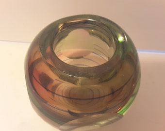 Very heavy very thick glass vase