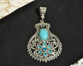 Beautiful Blue Necklace Charm