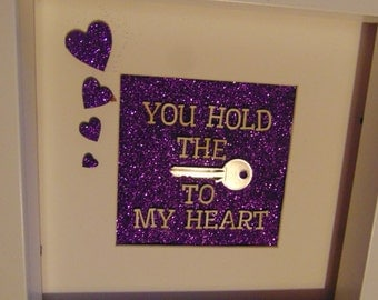 You hold the key to my heart Embellished Deep Box Frame