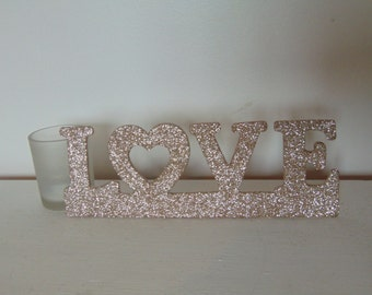 Love Champagne Gold Decorative Hanging Sign