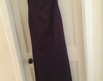 Debut evening gown by Debenhams size 10 long purple dress with fishtail at the back