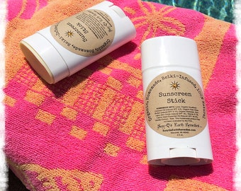 Sunscreen Stick - Made with Certified Organic Ingredients and Non-nano Zinc Oxide (Equivalent to SPF 30). Kid Safe.
