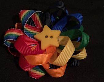 """4"""" Rainbow Hairbow"""