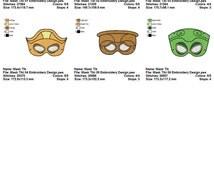 Package 6 Masks Tiki Embroidery Designs Sizes (4*4-100*100)(5*7-130*180) PES,JEF,HUS... etc