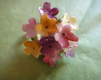 Vintage (1950) Cara China Staffordshire Flower Brooch, Made in England