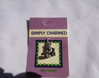 bear pewter charm jewelry Craft Supplies, pendants