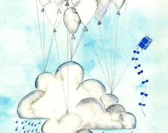 Rainy Cloud Balloons