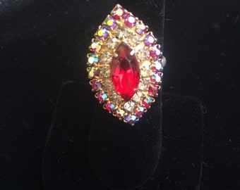 Faux ruby costume ring