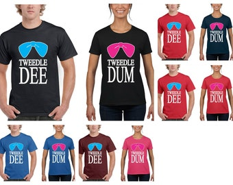 Tweedle Dee, Tweedle Dum Couples Matching Romantic T-Shirts