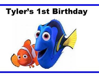 25 Disney Finding Dory Birthday Water Bottle Labels - actual label not just a print file