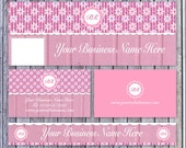 Shabby Pink Custom Marketing Set For Etsy Store - Printable Business Card, Facebook Cover, Etsy Store Banner