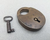 Antique Vintage Padlock with Key