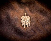 Bear paw necklace, Impress of Veles, Good luck pendant