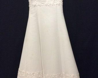 Flower girl bridal dress