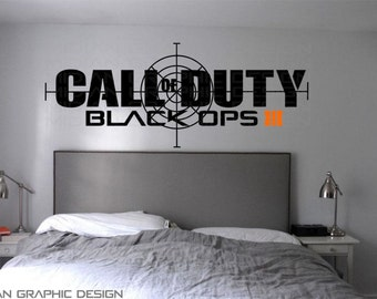 Call Of Duty Black OPS 3 Personalised Wall Art Vinyl Decal Sticker