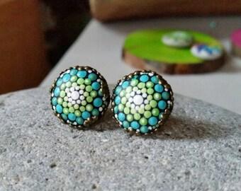 Beautiful mandala earrings