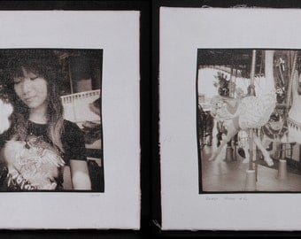 """Diptych """"Beast Tamer"""", a part of the """"First Memory"""" collection"""