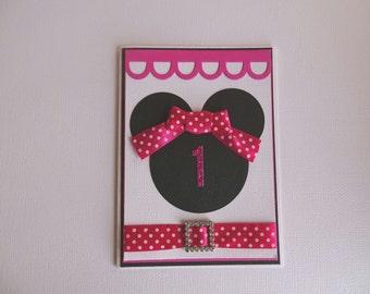 Girls 1st birthday card - Happy birthday card - Girls birthday card - First birthday card - 1st Birthday greeting card - Milestone birtnday