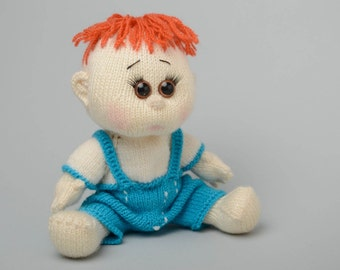 Handmade knit doll Boy