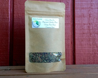 ChocoMinTea - Organic Loose Leaf Tea, Herbal Tea, Chocolate Tea Peppermint, Chicory Root, Cinnamon, Chocolate Mint Tea, Gift for Tea Lover
