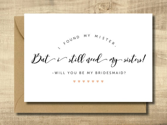 Items Similar To Printable Bridesmaid Invitation Card Make Your Own Cards