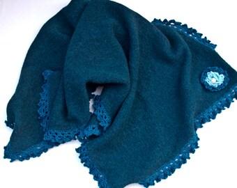 Rectangular shawl color oil