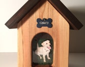 Solid Maple | Dog House Pet Cremation Urn | Pet Urn | Dog Urn | Dog Cremation Urn