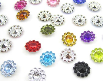 NEW DIY 50pcs 12MM Mixed Resin flatback Scrapbooking for phone/wedding/Crafts